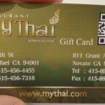 My Thai Restaurant Gift Card